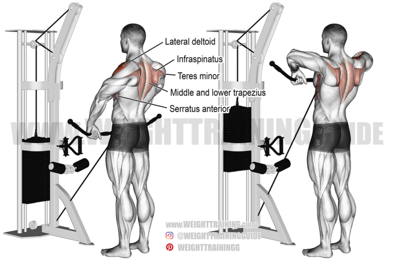 Cable wide-grip upright row