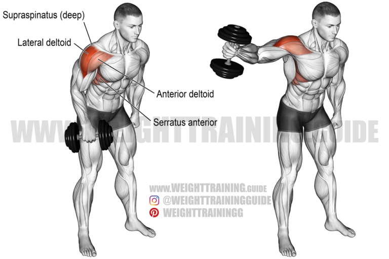 Dumbbell one-arm lateral raise